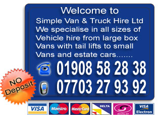 cheap van hire in newport pagnell, milton keynes